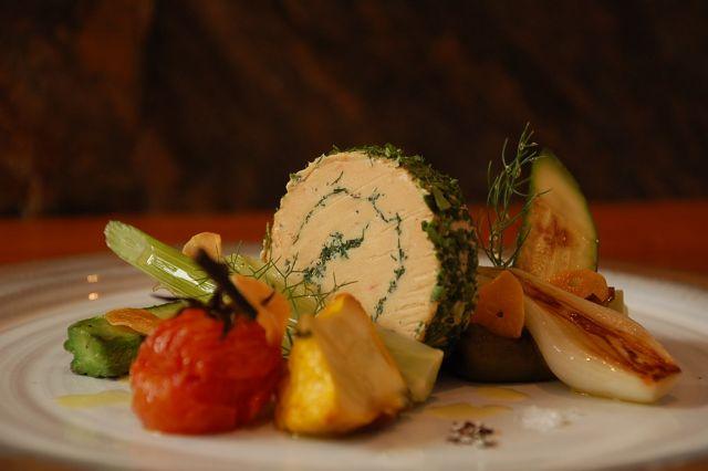 Foie gras et escalivade